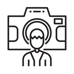 photographer contributor line icon