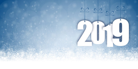 snow fall background for christmas and New Year 2019