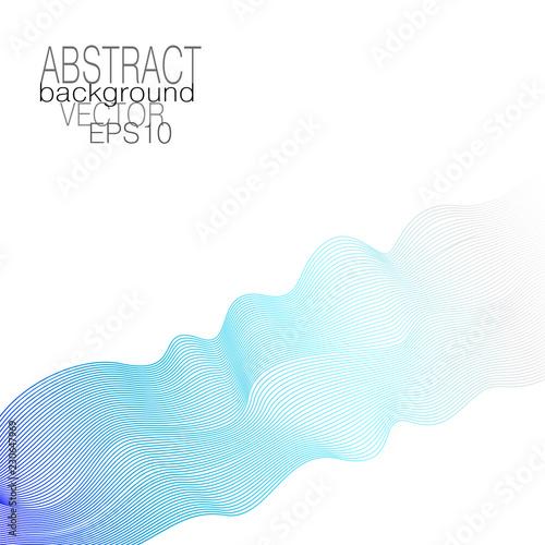 Vector Blue Gray Dynamical Wave Fluid Pulsating Line Art