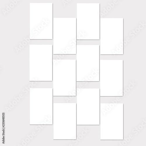 2538118303a8 Montage photo frame template. Vector Mood Board Branding Presentation.  MoodBoard