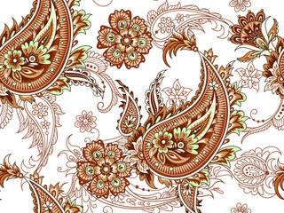 Seamless folk indian pattern