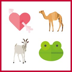 funny icon. camel and cupid vector icons in funny set. Use this illustration for funny works.