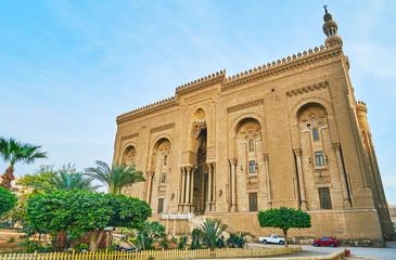 The facade of Al-Rifai' Mosque, Cairo, Egypt