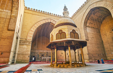 Ablution fountain in court of Sultan Hassan Mosque, Cairo, Egypt