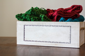 Box with clothes for donation