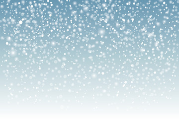 Winter background with falling snow and space for text,