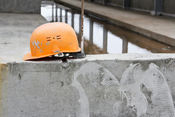 Foto op Plexiglas Wintersporten Construction helmet. Safety production. Safety staff on the streak. HR. Labor protection