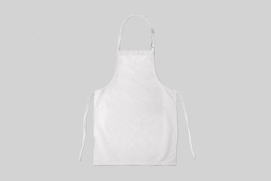 White apron Mock-up isolated on soft gray background.clean apron.
