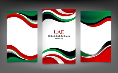 United Arab Emirates Banner Background Concept for Independence, national day and other events, flag color design