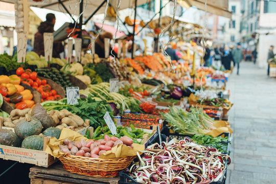 food market in venice italy