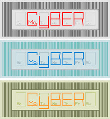 Set banners Cyber Monday