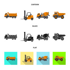 Isolated object of build and construction sign. Set of build and machinery vector icon for stock.