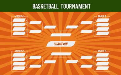 Basketball banner. Basket tournament. Basketball match or basketball tournament. Cup of championship. Vector stock.