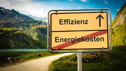 Schild 379 - Effizienz