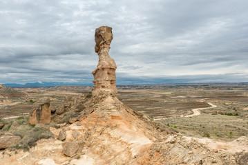 Tozal de la Cobeta sandstone, Monegros in Huesca, Spain