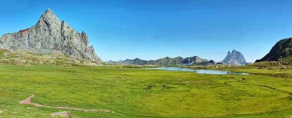 Aluminium Prints Reflection Anayet peak and Anayet lake in Spanish Pyrenees, Spain.