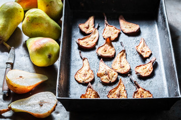 Enjoy your sun dried pears as a sweet snack