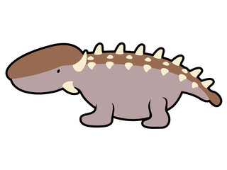 Isolated cute dinosaur cartoon character. Vector illustration design