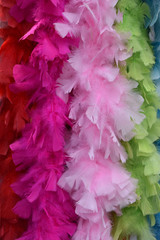 Boa de scène en plumes colorées