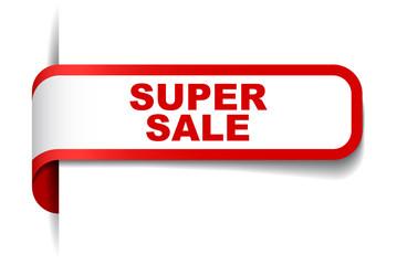 red vector banner super sale