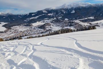 Winter landscape in the ski resort. Western Tatras. Zuberec. Slovakia.