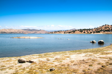 Lake in the high Sierra Nevada mountains near Fresno in southern California in the USA