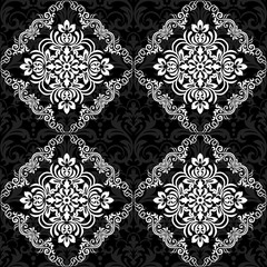 Seamless vector background. Vintage ornamental template with pattern. Islam, turkish, Indian, Arabic. Vector illustration