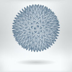 Vector 3D Model Hepatitis Virus or Nanostar Concept Icon - Lowpoly Virus or Nanobot Particle Structure
