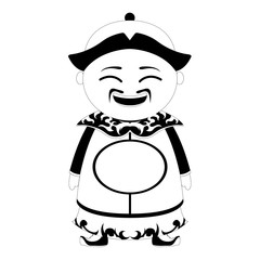 Isolated traditional asian cartoon character. Vector illustration design