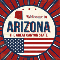 Welcome to Arizona vintage grunge poster