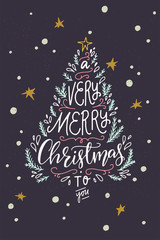 Holiday inscription A Very Merry Christmas To You