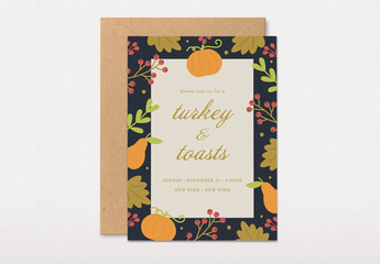Thanksgiving Party Invitation Layout