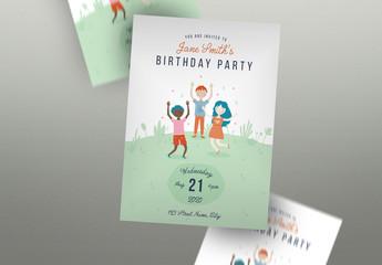 Birthday Invitation Flyer Layout