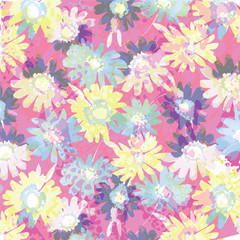 Beautiful floral bouquet.  watercolor floral pattern, Ditsy floral background.