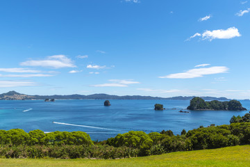 Landscape Scenery of Cathedral Cove Beach, Coromandel Peninsula - New Zealand