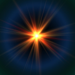 Stellar Beams - Light with Rays and Halo - Abstract Shine Background