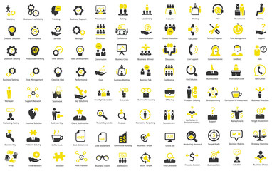 Ceo, HR, Business, Finance vector icons