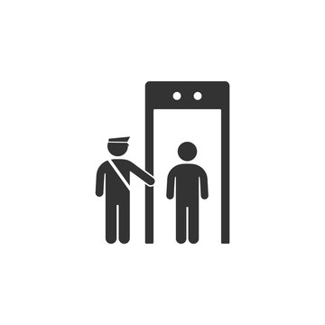 Security check icon. Element of airport icon for mobile concept and web apps. Detailed Security check icon can be used for web and mobile