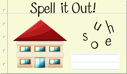 Spell it out house