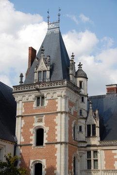 """Château royal de Blois, résidence favorite des rois de France, tour vue de l'aile de Louis XII, fait parti des """"Châteaux de la Loire"""", département du Loir-et-Cher, France"""