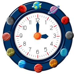 fun planet themed clock
