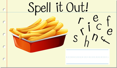 Spell English word french fries
