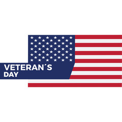 Veteran day background with text. Vector illustration design