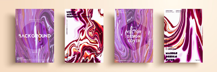 Artistic covers design. Liquid marble texture. Creative fluid colors backgrounds. Applicable for design covers, presentation, invitation, flyers, annual reports, posters and business cards.