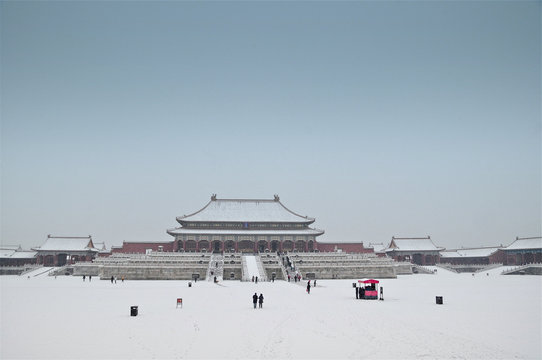 Forbidden City under snow