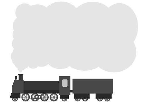 蒸気機関車 フラットデザイン