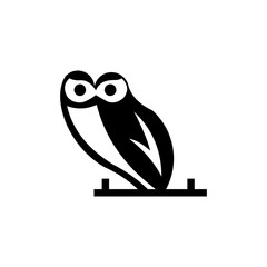 owl logo graphic out line template a download vector