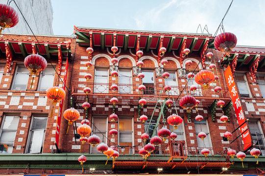 Building in Chinatown in San Francisco, California.