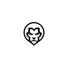 Animal lion icon vektor logo