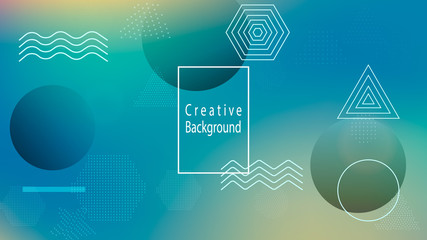 Color geometric gradient, futuristic background The idea of modern design wallpaper, background, packaging Colored lines, dots, abstract shapes Background in minimalist style.
